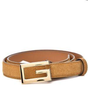 Gucci Suede Icaro G Cube Belt